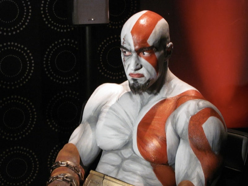 Brazilian Kratos Has Magnificently Painted Man Boobs