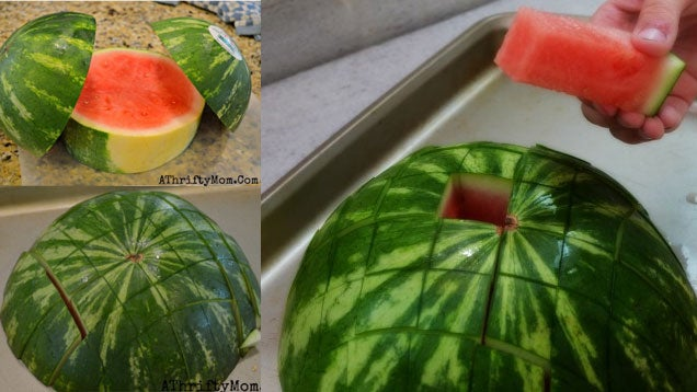 Cut a Watermelon into Sticks (Perfect for Kids and Parties)