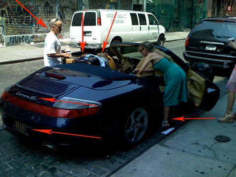 This Man, His Porsche and His Lady's Awful Ankle Tattoo Head to Montauk