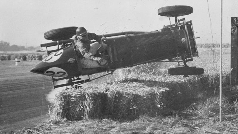 Airborne at the very first British Grand Prix