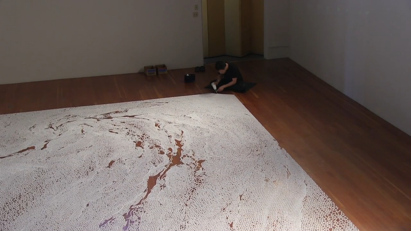 Artist Creates (And Destroys) Drawings From Thousands of Pounds of Salt