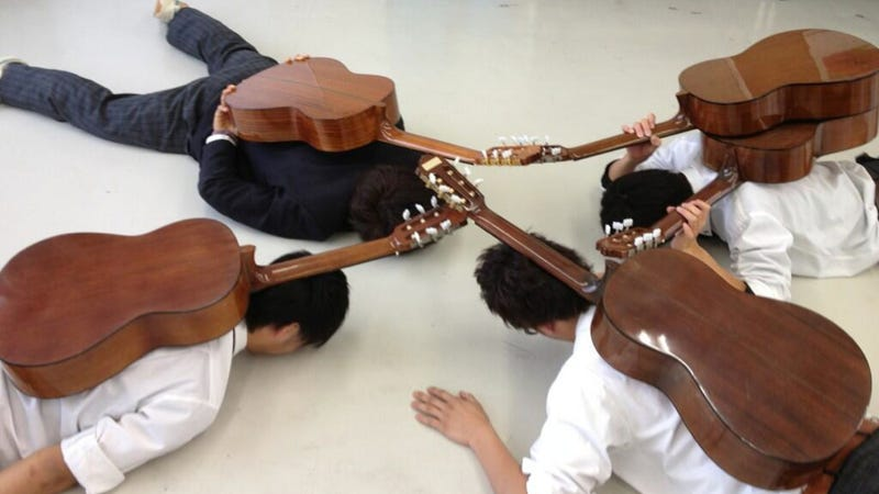 Japanese Kids Pretending They Are Insects