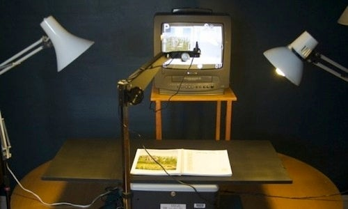 Convert an Old Projector into a Camera-Based Document Scanner