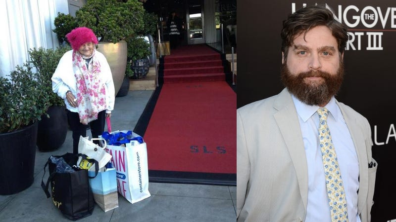 Zach Galifianakis' Red Carpet Date: A Woman He Saved from Homelessness
