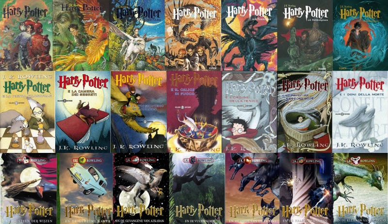 What Harry Potter book covers from all over the world look like