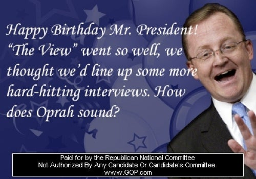Republicans Wish Barack Obama a Very Terrible Birthday