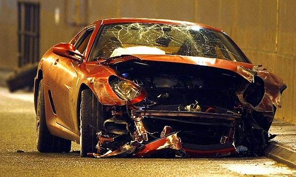 Manchester United's Cristiano Ronaldo Wrecks Ferrari 599