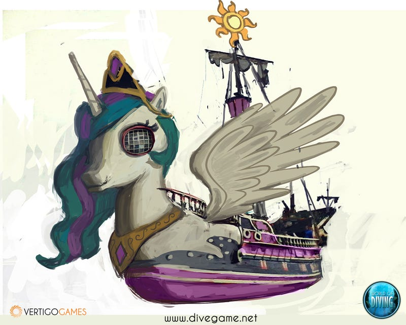 VR Diving Game Implements Community-Made My Little Pony Shipwreck