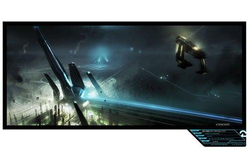 Tron environment concept art