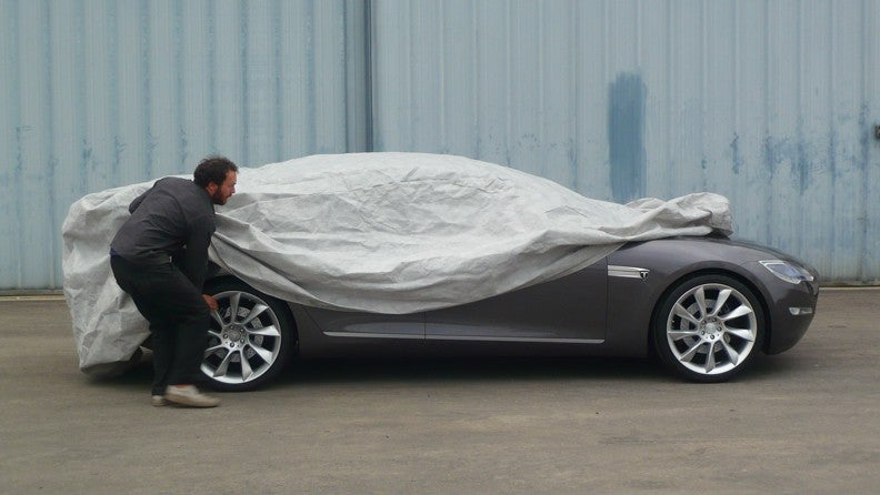 Tesla Model S Electric Sedan Mostly Revealed