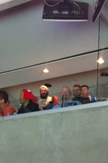 Some Drunk Giants Players Got Into It With Drunk Capitals Fans At A Hockey Game
