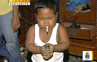 Chain-Smoking Baby Quits After Rehab