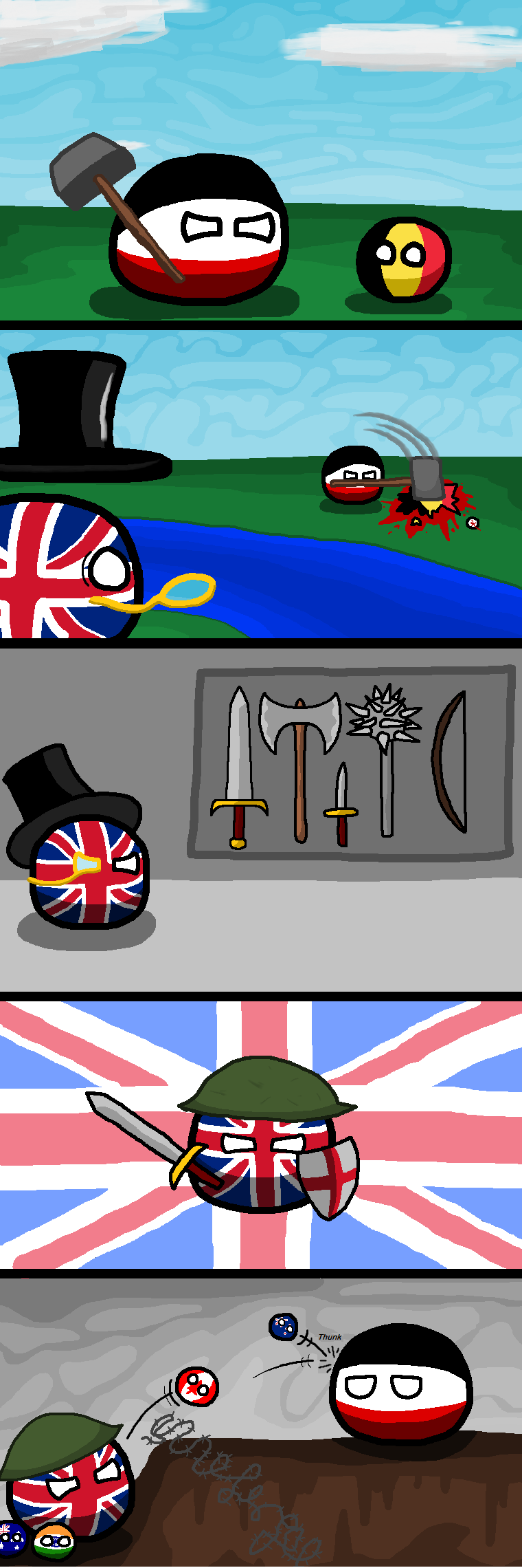 Daily Polandball: British Warfare