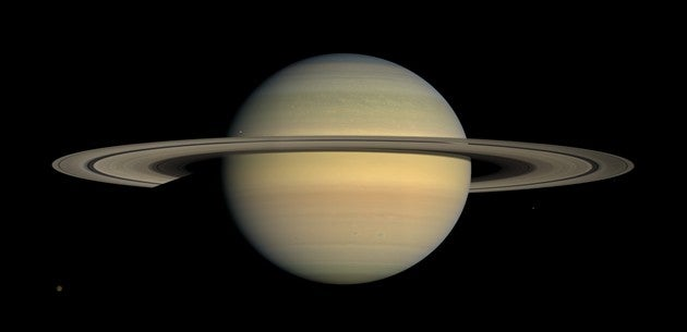 Saturn's rings are the remains of an exploded moon