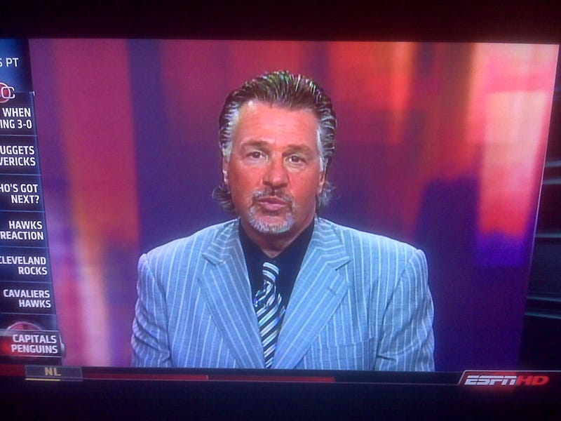 Barry Melrose Looks A Little Medium Rare