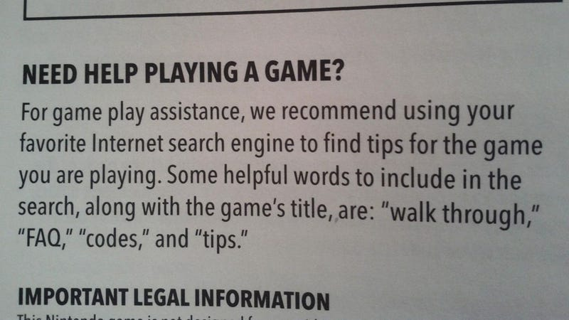 Nintendo's Helpful Advice On Where to Get Tips For Your Games