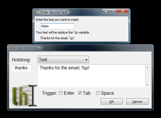 Insert prompts and delays with Texter 0.4