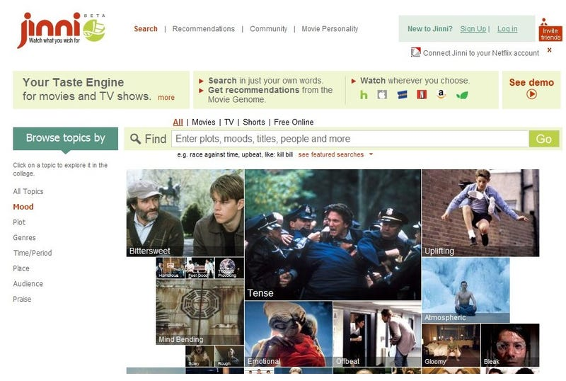 Best Movie Recommendation Service: Jinni