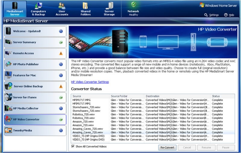 HP MediaSmart Windows Home Servers Can Now Stream Videos, Unprotected DVDs to iPhones, PSPs
