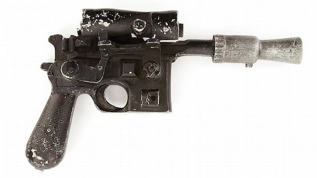 You can buy the real Han Solo DL-44 Blaster used in Star Wars