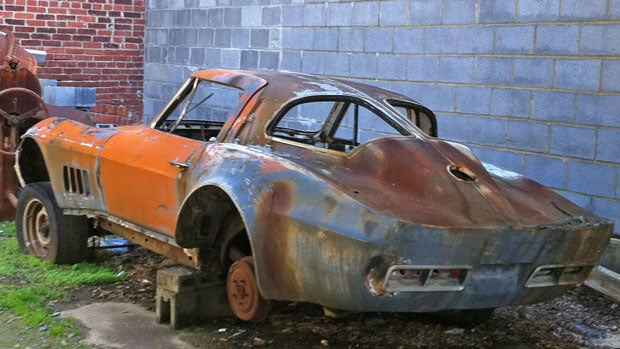 Washingon D.C.'s secret rotting Sting Ray Corvette