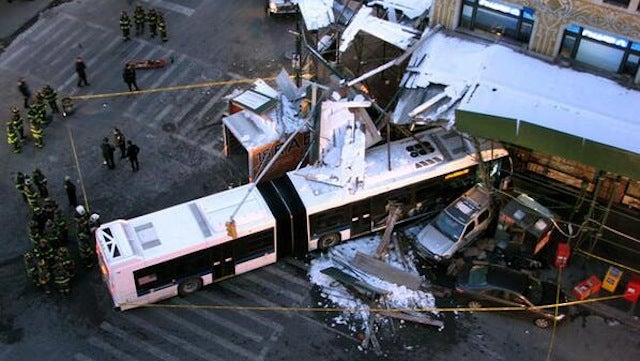 Stolen Truck Crashes Into NYC Bus, Killing Driver and Injuring 4
