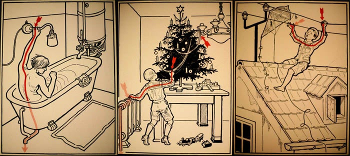 Retro Illustrations Show 30 Ways To Die From Electrocution