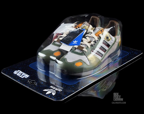 Hop Over the Sarlaac Pit With Adidas Boba Fett ZX 800 Sneaks