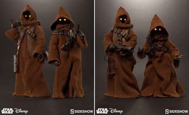 Glowing Eyes and Tiny Cloaks Make These Detailed Jawa Figures Perfect