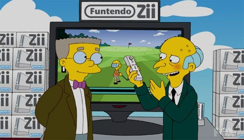 The Simpsons Lampoon Nintendo Straightly With The Funtendo Zii