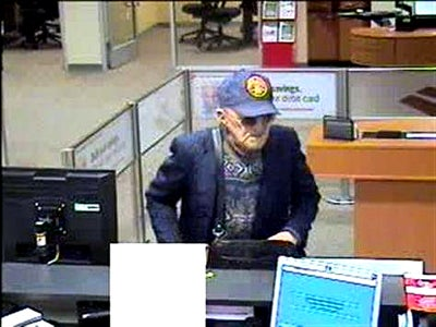 Geezer Bandit Knocks Off Another Bank