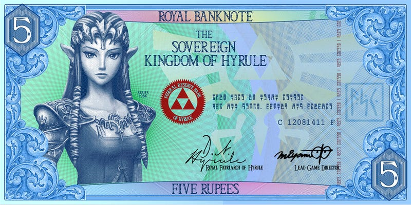 Kingdom Of Hyrule Decommissions Actual Rupees, Switches To Paper Curency