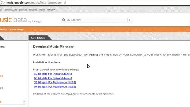 Google Music Manager Now Available for Linux