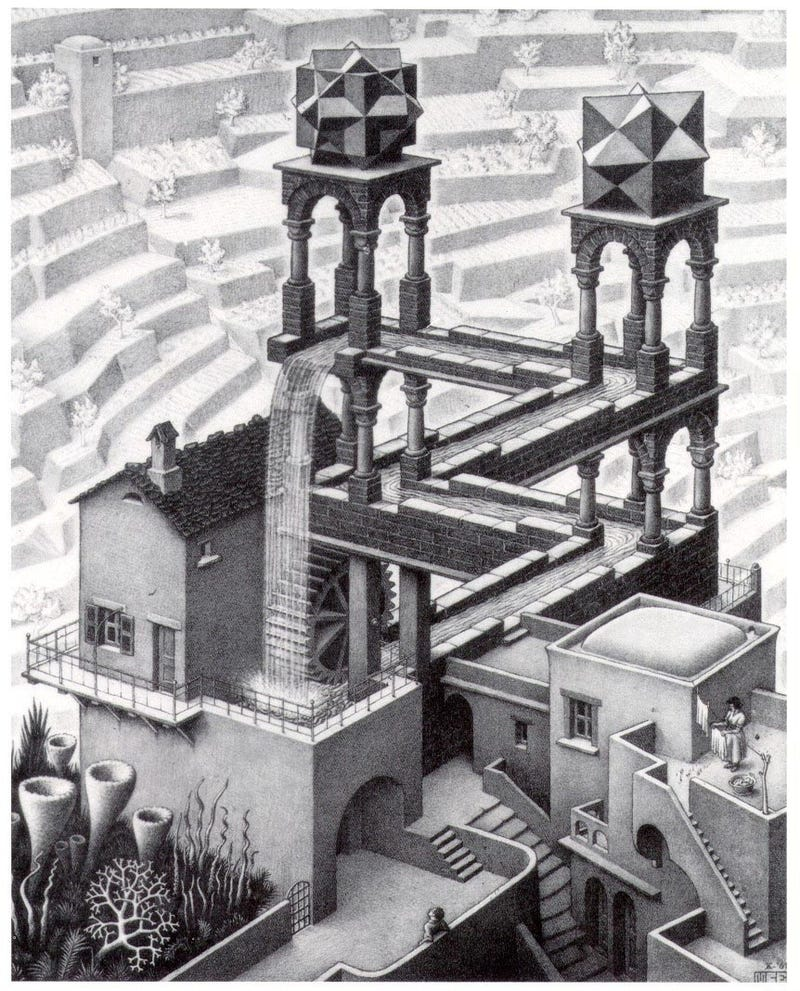 Watch Escher's Impossible Perpetual Motion Waterfall Brought To Life