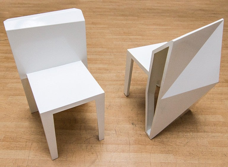 An Abstract Art Table and Chair Set That's Actually Useful and Not Awful
