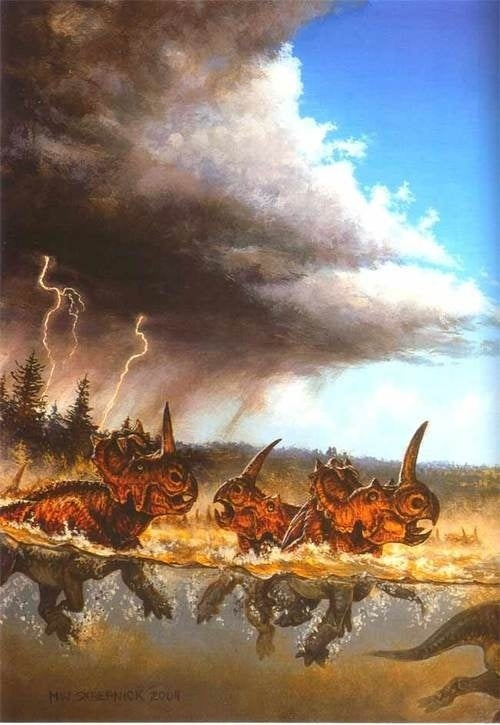 What caused the world's largest dinosaur graveyard?