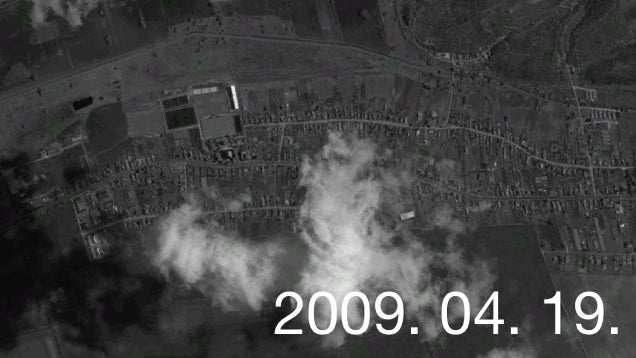 Felcsút fejlődése öt műholdképen