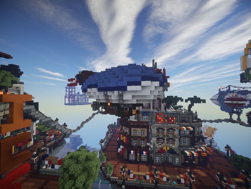 Bioshock Infinite's Floating City Built In Minecraft