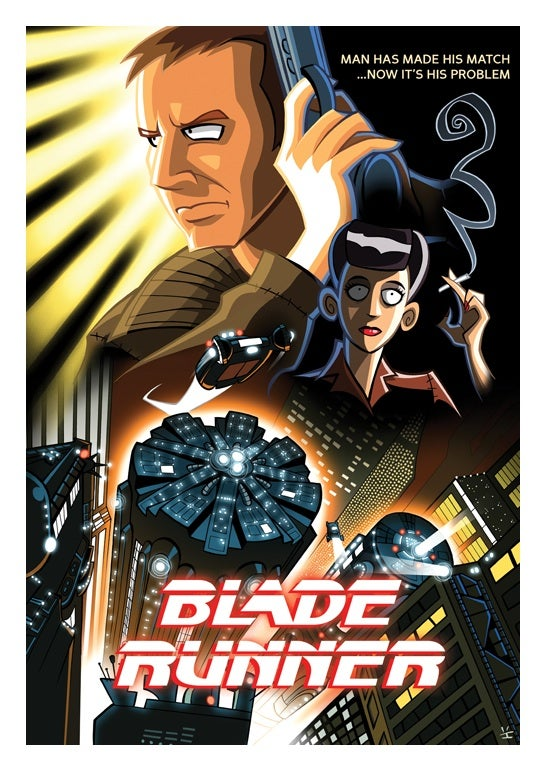 Classic movie posters get a colorful cartoon makeover