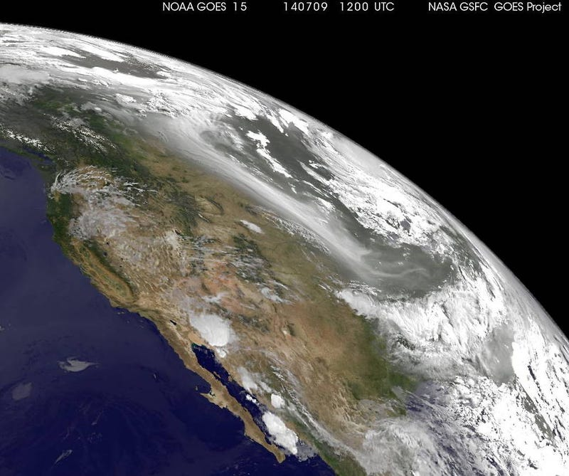 Smoke From Canada's Copious Wildfires As Seen From Space