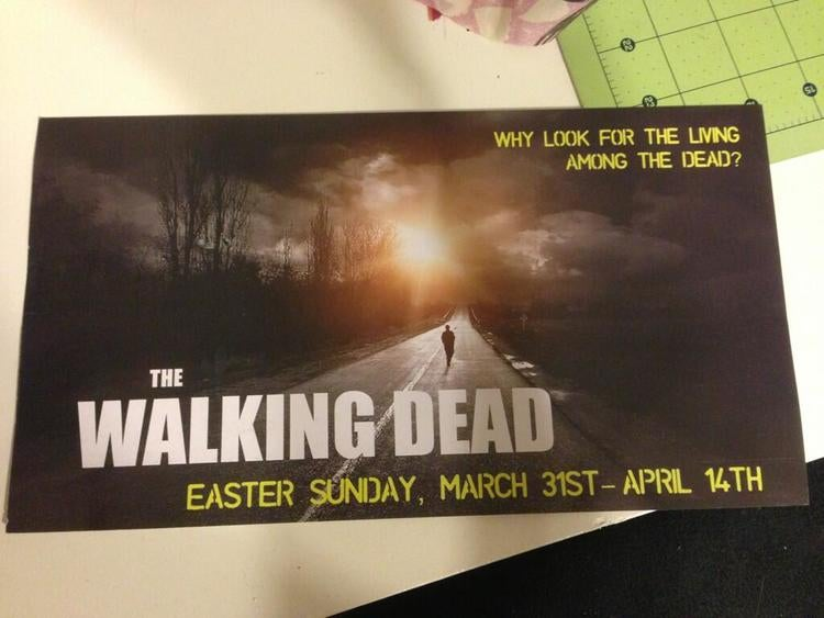 Church uses The Walking Dead to advertise for Easter, because OBVIOUSLY