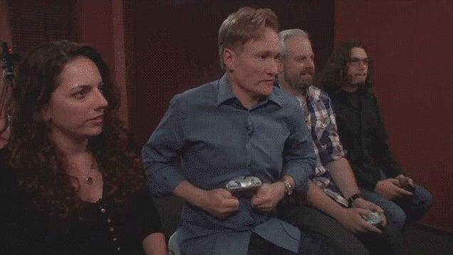 "Conan Plays Super Smash Bros. for Wii U, Says ""America Just Lost"""
