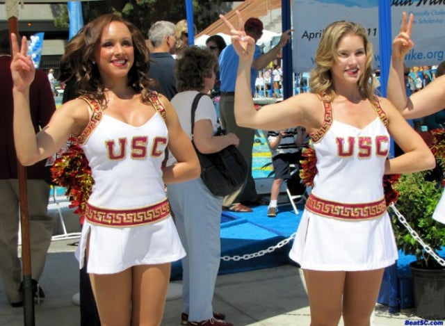 The World Famous USC Song Girls Drench Themselves In A Pool For Charity