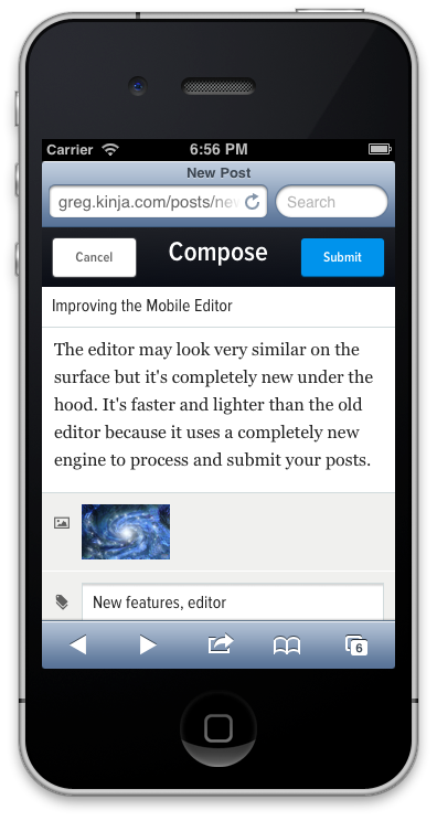 Improving the Writing Experience: Testing a New Mobile and Tablet Editor