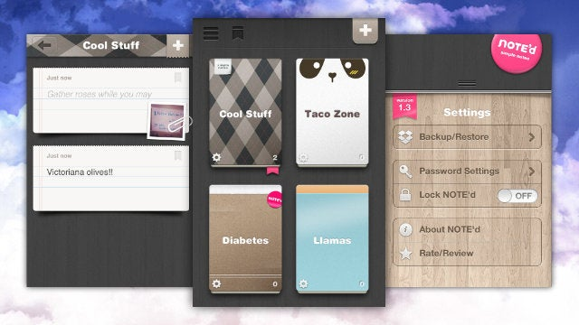 NOTE'd Clips Every Kind of Notes into Beautiful, Custom Notebooks that Sync with Dropbox