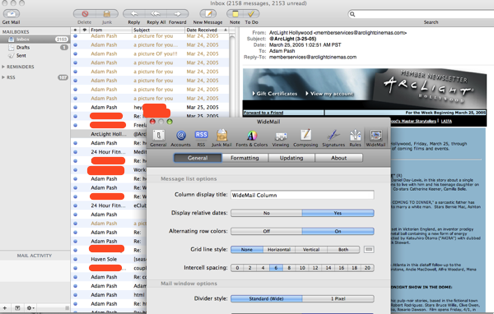 WideMail Adds a Three-Pane Widescreen View to Mail.app