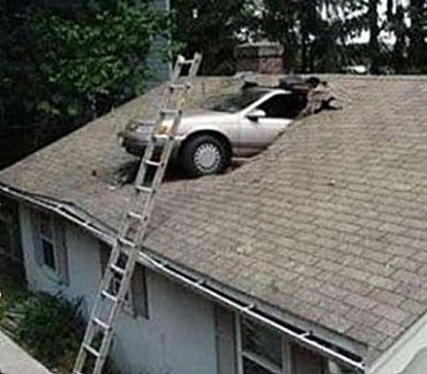 "Area Man Parks Car On House Roof, Tells Police ""GPS Made Me Do It"""