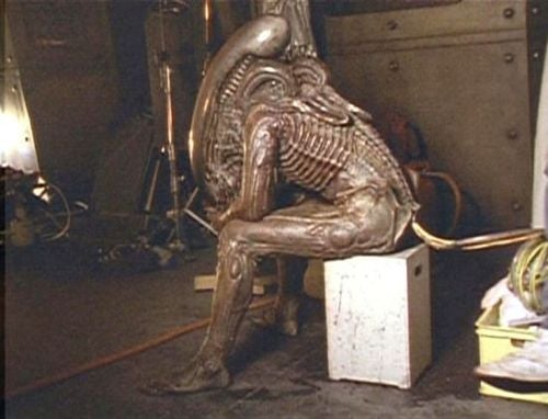 Behind-The-Scenes snaps from Ridley Scott's Alien reveal the real Xenomorph