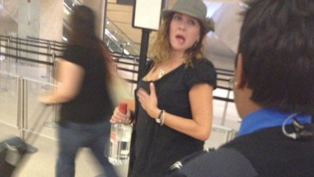 The TSA Wouldn't Let This Woman Bring Vodka Through Security So She Chugged It In Their Faces