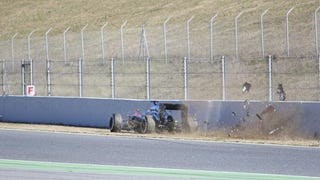 Fernando Alonso Crashes Out and is Taken to Hospital